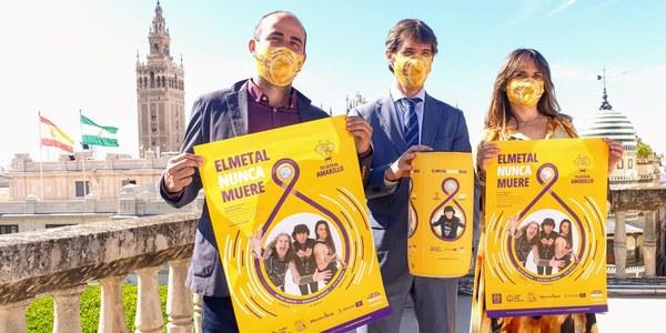 El Ayuntamiento y las salas de ensayos  de Sevilla presentan la campaña 'El Metal Nunca Muere' con motivo del Día Mundial del Reciclaje