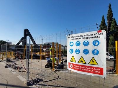 El Ayuntamiento acomete obras de mejora en el Punto Limpio de Los Olivos del Parque Empresarial Calonge con una inversión superior a 65.000 euros por parte de Lipasam