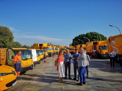 Lipasam aprueba inversiones por un importe de 1,8 millones de euros en nuevos vehículos para reforzar el servicio de limpieza y recogida de residuos