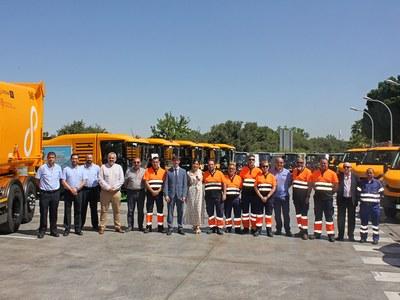 LIPASAM presenta 24 nuevos vehículos con una inversión de 2,3 millones de euros