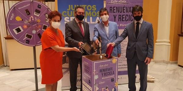 Sevilla acoge la campaña #GreenWeek20 de concienciación sobre el reciclaje de electrodomésticos y aparatos electrónicos que aumentó en la ciudad un 38% en el último año